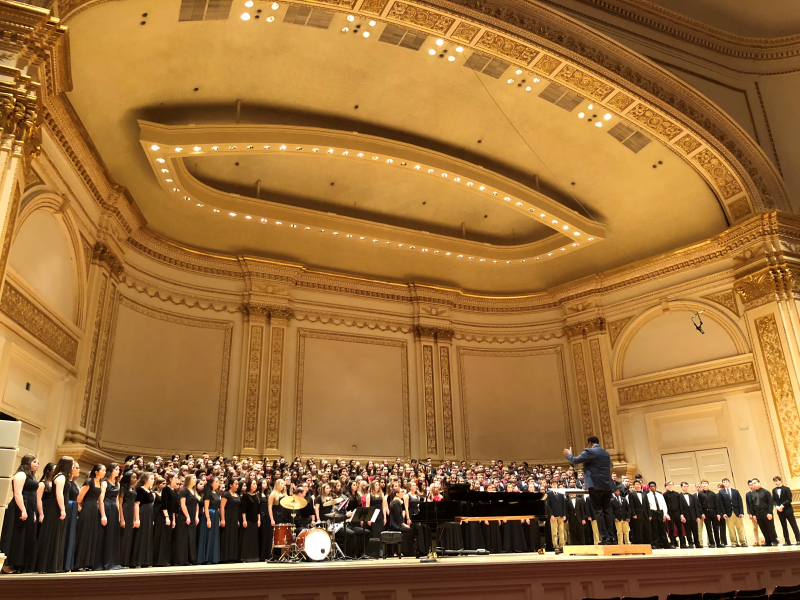 Singing with the National Youth Choir in Carnegie Hall