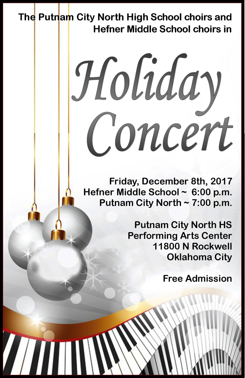 Holiday Concert Poster 2017