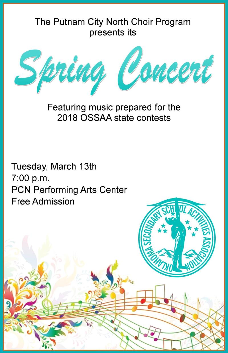 Spring Concert Poster 2018